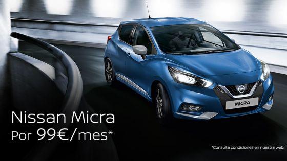 Nissan Micra por 99€/mes